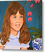 Portrail Of A Young Girl Metal Print
