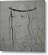 Portrait 1971 Colette Metal Print