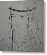 Portrait 1971 Colette Metal Print by Colette V Hera  Guggenheim