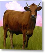 Portrait Of A Cow Metal Print