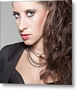 Portrait Of A Lady Metal Print by Ralf Kaiser