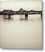 Portrait Of A London Bridge Metal Print