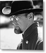 Portrait Of A Man Anniversary Of The American Civil War Mosby House Lawn Warrenton Virginia Metal Print