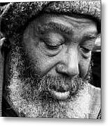 Portrait Of A Man In New Orleans Metal Print
