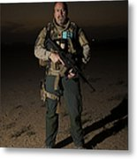Portrait Of A U.s. Contractor Metal Print