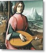 Portrait Of A Young Man With A Lute Metal Print