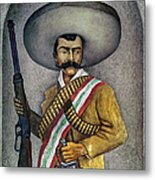 Portrait Of A Zapatista Metal Print