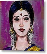 Portrait Of An Indian Woman Metal Print