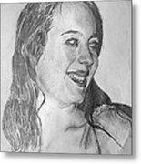 portrait of Angela Metal Print