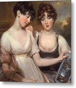 Portrait Of Anne And Maria Russell Metal Print