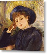 Portrait Of Mademoiselle Demarsy Metal Print by Pierre Auguste Renoir