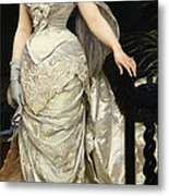 Portrait Of Mademoiselle X Metal Print