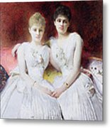 Portrait Of Marthe And Terese Galoppe Metal Print