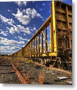 Portsmouth Rail Cars Metal Print
