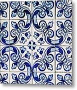 Portuguese Azulejo Metal Print