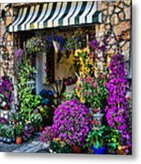 Positano Flower Shop Metal Print