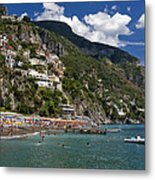 Positano Seaside Metal Print