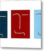 Positive With Negative Metal Print