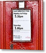 Post Box Metal Print
