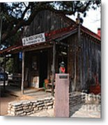 Post Office In Luckenbach Texas Metal Print