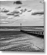 Potobello Beach And Drifting Sands Metal Print by John Farnan