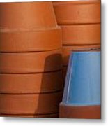 Pots In Sun Metal Print