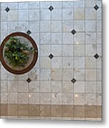 Potted Plant In Foyer Floor From Above Metal Print by Will & Deni McIntyre