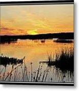 Potter Marsh Sunset Metal Print