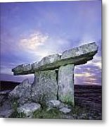Poulnabrone Dolmen, The Burren, Co Metal Print