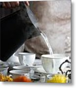 Pouring Hot Water Metal Print