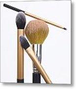 Powder And Make-up Brushes Metal Print by Bernard Jaubert