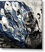 Power Of Prayer With Hasid Reading And Hebrew Letters Rising In A Spiritual Swirl Up To Heaven Metal Print