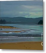 Powlett River Inlet On A Stormy Morning Metal Print