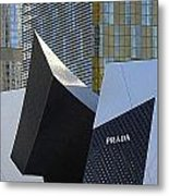 Prada Las Vegas Abstract Metal Print