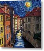 Prague By Moonlight Metal Print