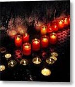 Prague Church Candles Metal Print by Stelios Kleanthous