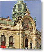 Prague Obecni Dum - Municipal House Metal Print by Christine Till