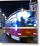 Prague Tram Metal Print