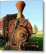 Prairie Train Metal Print