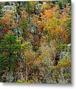 Prarie Hollow Gorge In Autumn Metal Print