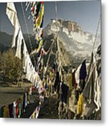 Prayer Flags Hang In The Breeze Metal Print