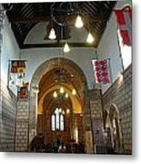 Praying At The St Mary Church Inside Dover Castle In England Metal Print