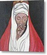 Praying Woman-oil Painting Metal Print by Rejeena Niaz