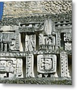 Pre-columbian Stone Ruin With Relief Metal Print