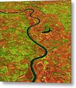 Pre-flood Missouri River Metal Print