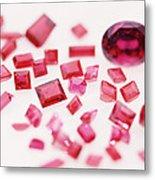 Precious Gemstones Metal Print