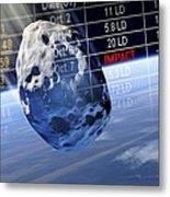Predicting Asteroid Impact, Artwork Metal Print by Detlev Van Ravenswaay