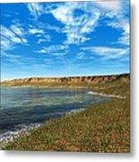 Prehistoric Coastal Landscape, Artwork Metal Print