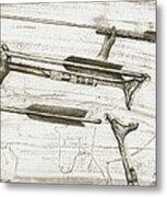 Prehistoric Spear-thrower Metal Print by Kennis And Kennismsf