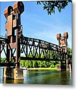 Prescott Lift Bridge Metal Print by Kristin Elmquist
